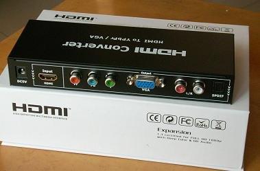 เครื่องแปลงสัญญาณ HDMI เป็น AV -- HDMI to AV Converter - For None HDMI Device (มีทั้งแบบ 5 สาย-component YPbPr และ - 3 สาย AV แดง เหลือง ขาว ให้เลือก)