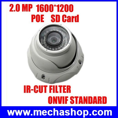 IPC011 กล้องIP CAMERA HDC232 Fiexed Lens 2Megapixel Resolution reach to 1600×1200 day&night version IR distance: 25M ยี่ห้อ Kiirie รุ่น HDC232