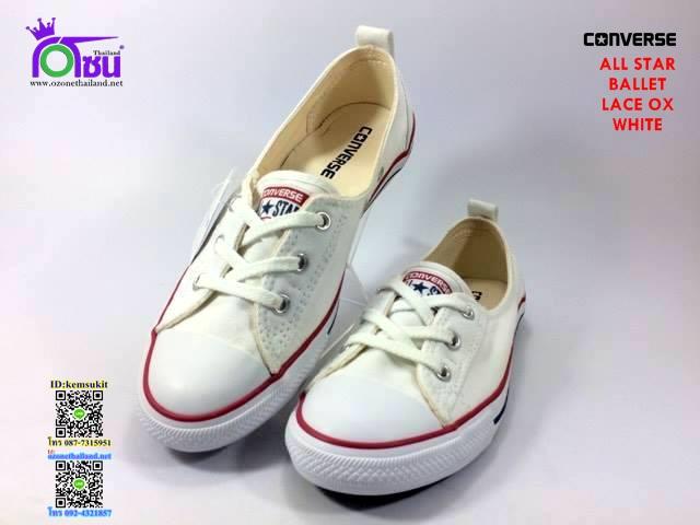ผ้าใบ Converse Ballet Lace ox White สีขาว เบอร์6-9