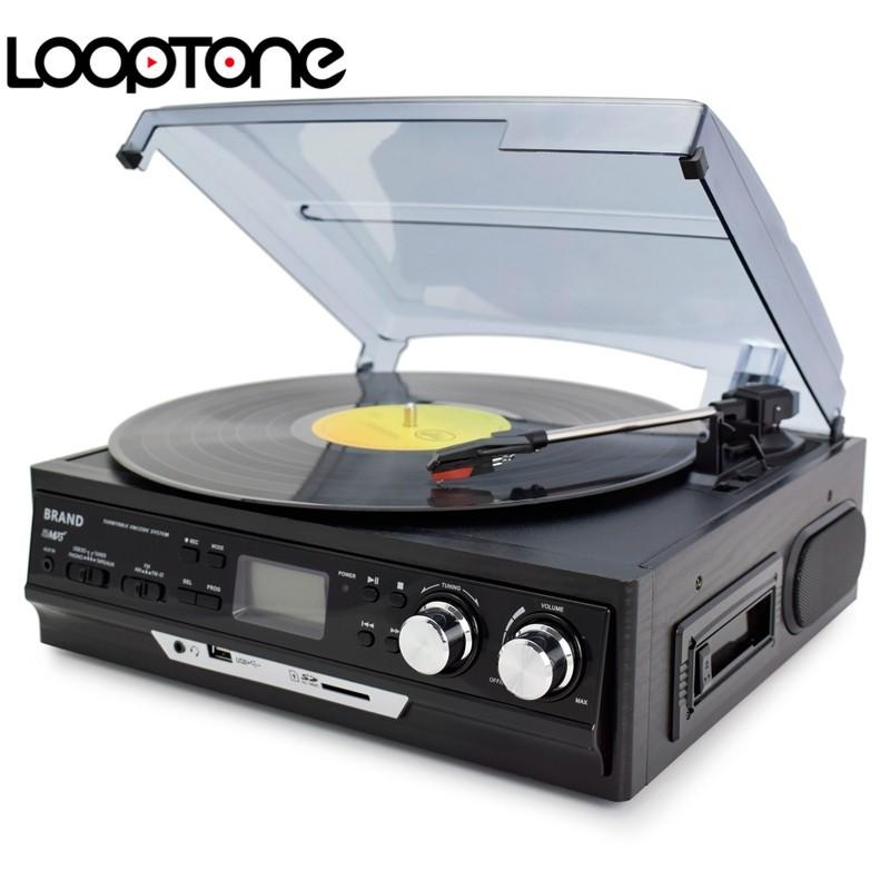 LoopTone เครื่องเล่นแผ่นเสียงลำโพงในตัว ,AM/FMวิทยุ ,เทปคาสเซ็ต,USB/SDบันทึก