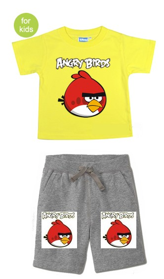 ANG138 Angry Birds เสื้อผ้าเด็ก ชุดนอน-ชุดลำลอง แขนสั้นขาสั้น เนื้อนิ่มใส่สบาย เหลือ Size 18-24M