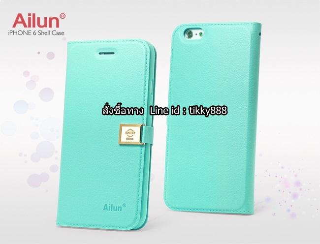 เคสฝาพับ iPhone 6/6s แบรนด์ Ailun สีเขียวมินต์