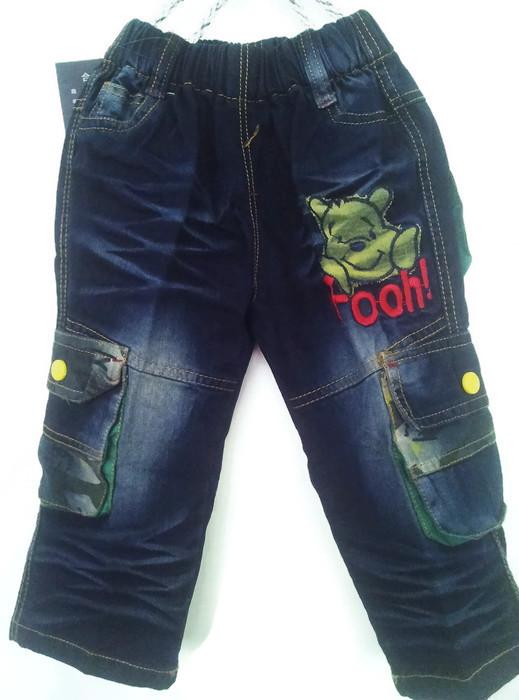 J1072 กางเกงยีนส์เด็กชาย ดีไซส์ลายปักเท่ห์ทั้งด้านหน้า-หลัง เอวยางยืด Size 3 และ 6 ขวบ ขายปลีกในราคาส่งให้เลยจ้า