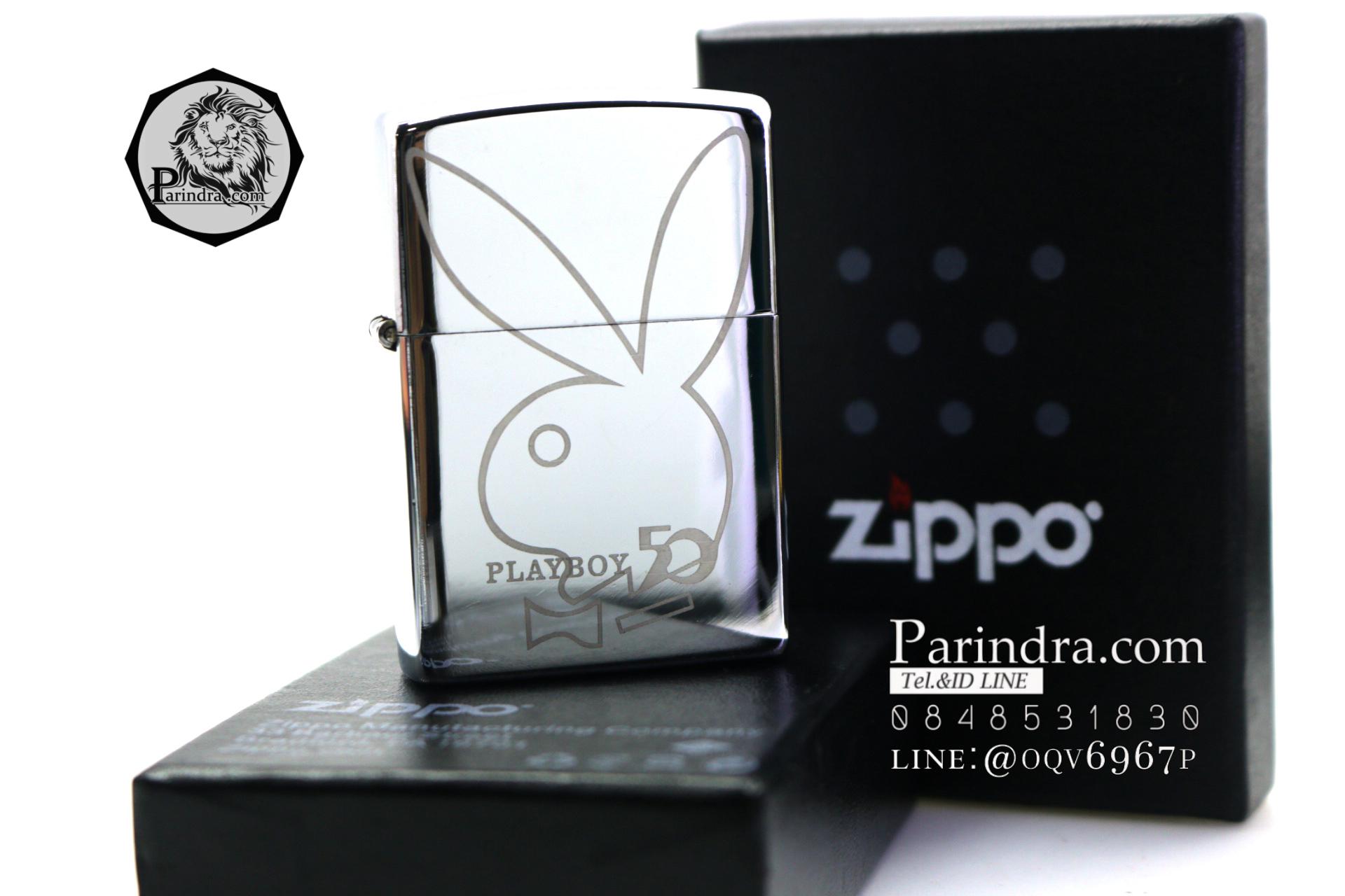 ไฟแช็ค Zippo ลายซิปโป้ ลาย Play boy สวยงาม ทนทาน ตัวงาน Mirror