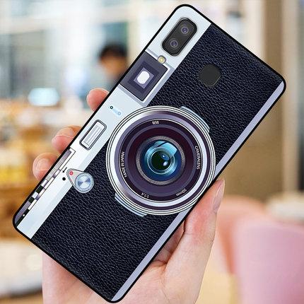 เคส Samsung A8 Star ซิลิโคนรูปกล้องถ่ายรูปน่ารัก ตรงเลนส์สามารถยืดออกมาตั้งได้ ราคาถูก
