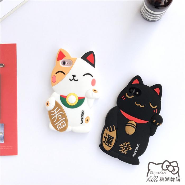 เคส iPhone 7 Plus (5.5 นิ้ว) ซิลิโคน soft case แมวกวักนำโชค Lucky Neko ราคาถูก