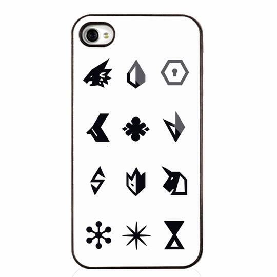 EXO เคส EXO LOGO iPhone4/4s/5/5s สีขาว