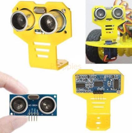 Ultrasonic Range Finder Acrylic Measuring HC-SR04 Module Sensor w/ Mount Bracket