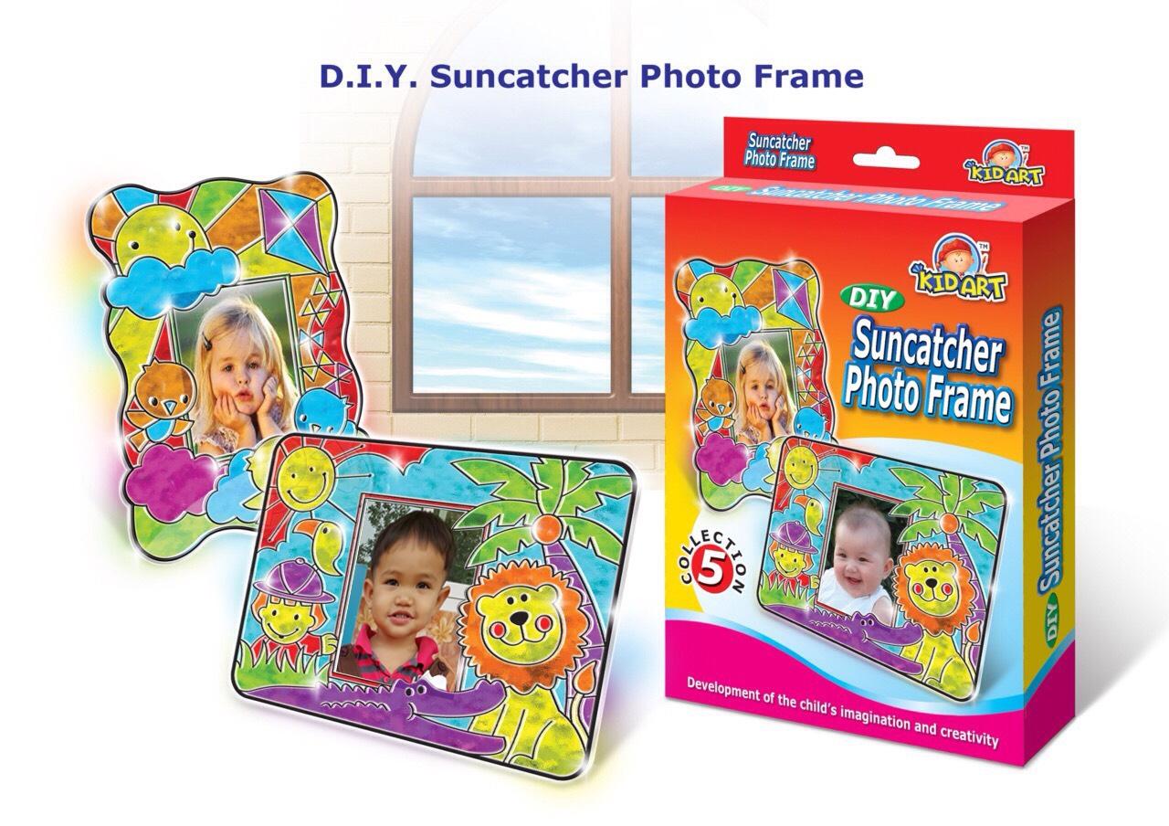 ชุดเพ้นท์สีกรอบรูปแฟนซี (DIY Suncatcher Photo Frame)