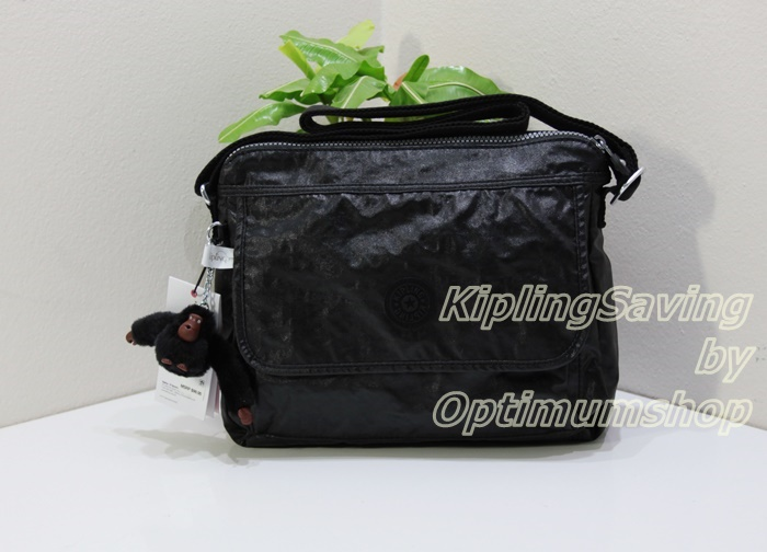 Kipling Aisling Lacquer Black กระเป๋าสะพาย ขนาด L12 x H 8.875 X D 4 นิ้ว