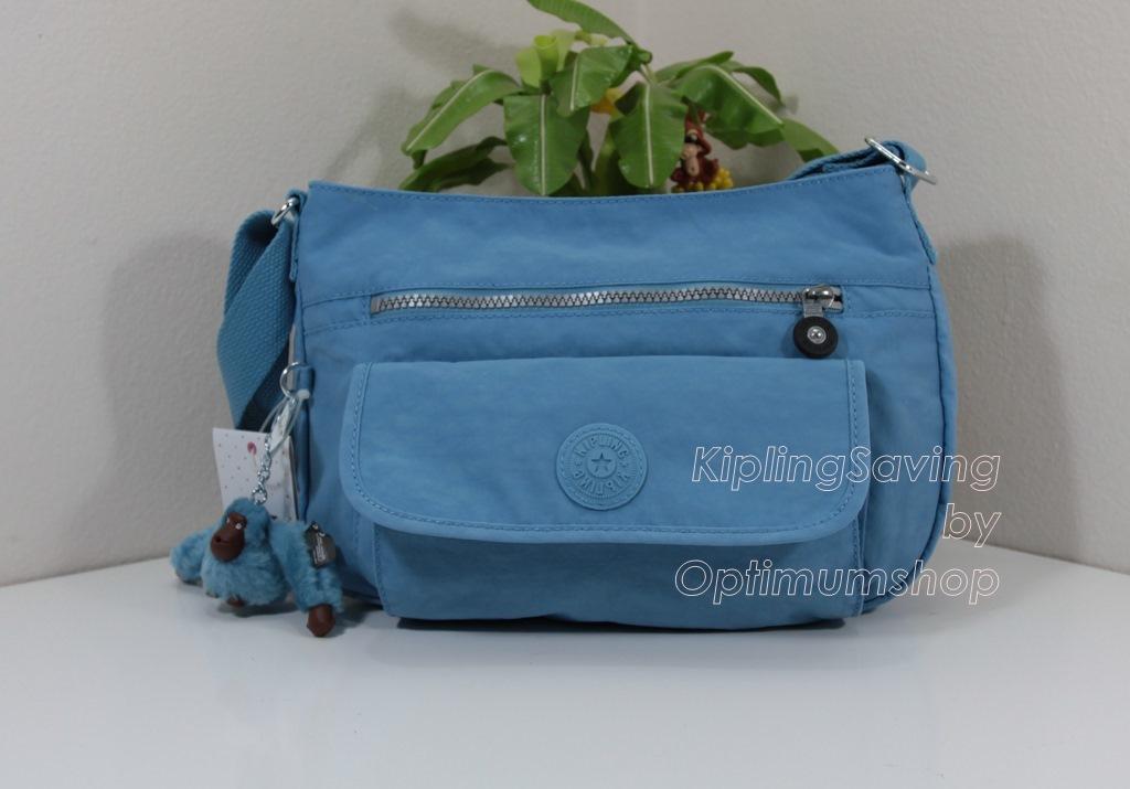 Kipling Syro Blue Grey กระเป๋าสะพายข้าง ทรงสวย เหมาะกับสาวหวานๆ ขนาด L12.25 x H 8.75 x D 5 นิ้ว