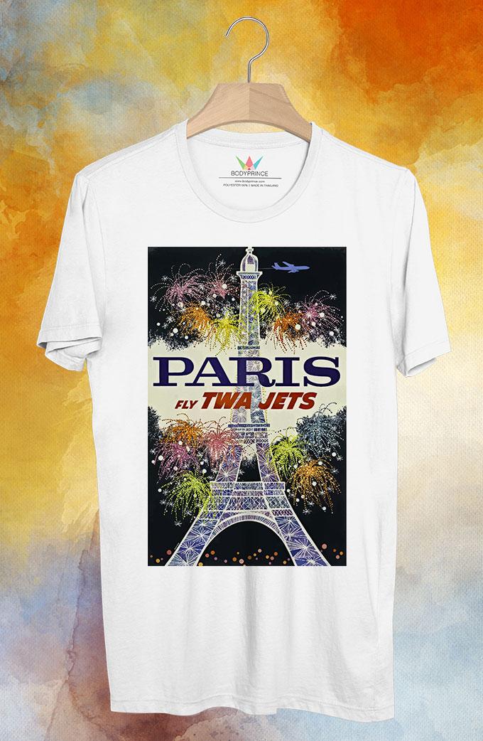 BP125 เสื้อยืด Retro City : Paris