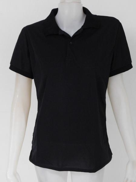 10004 ขายส่งเสื้อผ้าแฟชั่น เสื้อโปโลสีดำ ผ้ายืดคอตตอนผสมพีซี ผ้าใส่สบายๆค่ะ รอบอกวัดได้ 36 นิ้ว(แต่เป็นฟรีไซส์ค่ะ เหมาะสำหรับสาว 32-38 นิ้วก็ใส่ได้เพราะเป็นผ้ายืด)ยาว 25 นิ้ว