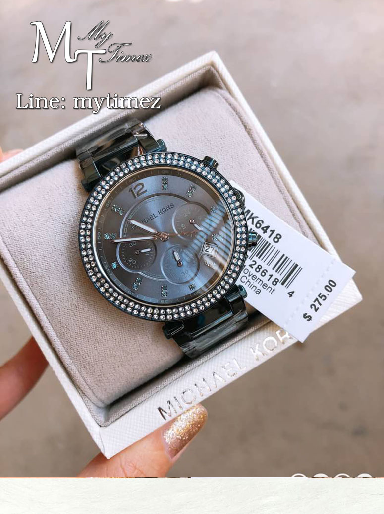 นาฬิกาข้อมือ MICHAEL KORS รุ่น Parker Blue Ion Plated Sainless Steel Watch MK6418