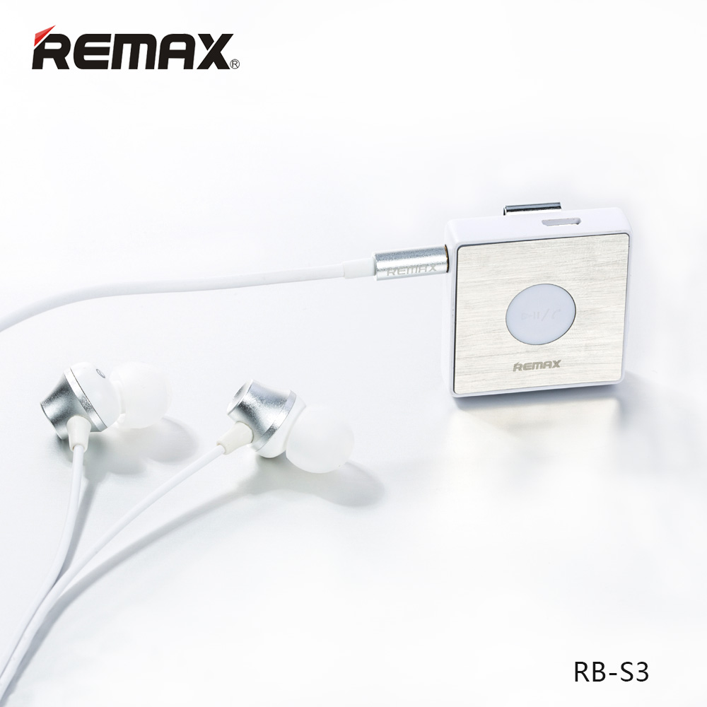 หูฟังบลูทธ Remax RB-S3 Sport Clip-on Bluetooth Headset หูฟังบลูทธ Remax  RB-S3 Sport Clip-on Bluetooth