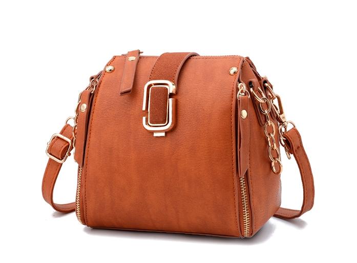 กระเป๋าถือ mustard style (สี Brown)