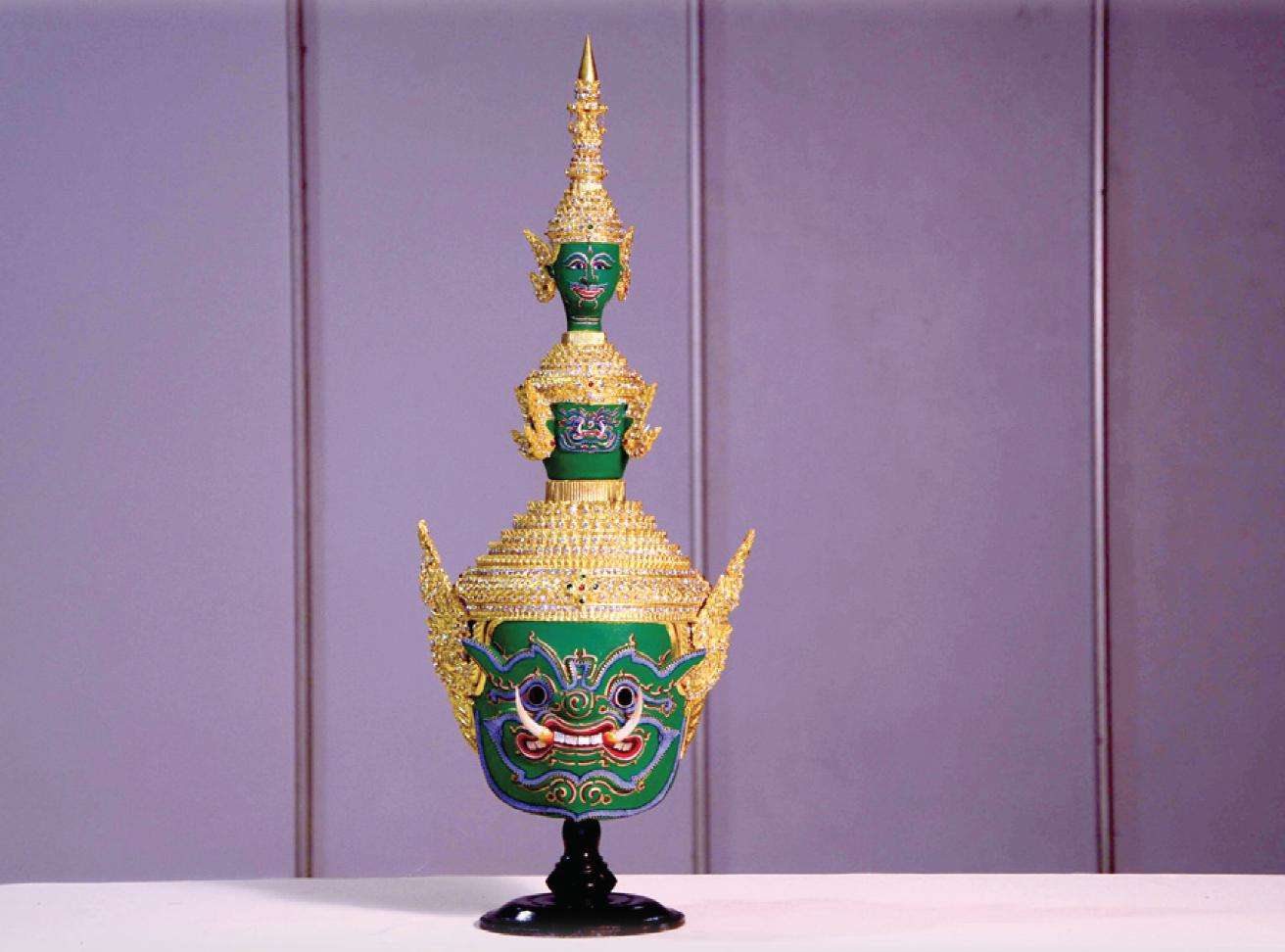 D00034 หัวโขนทศกัณฐ์(บ้านโขนไทย)