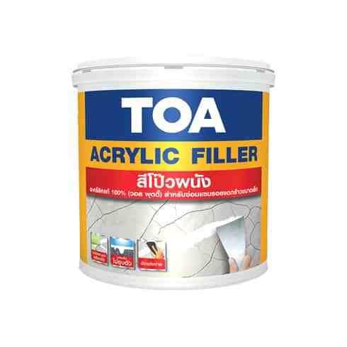 แชร์ บันทึก TOA Acrylic Filler สีโป๊วผนัง (1 กก.)