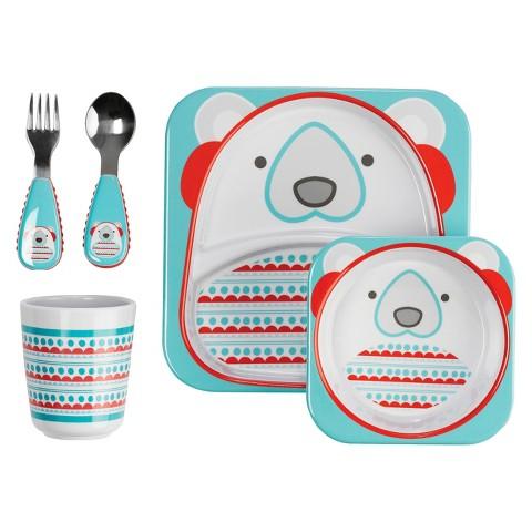 ชุดจาน ชาม ช้อน ส้อม และ ถ้วยน้ำ Skip Hop Zoo Winter Feeding Set, Polar Bear ลายหมีขั้วโลกแสนน่ารัก ใช้แล้วเจริญอาหาร