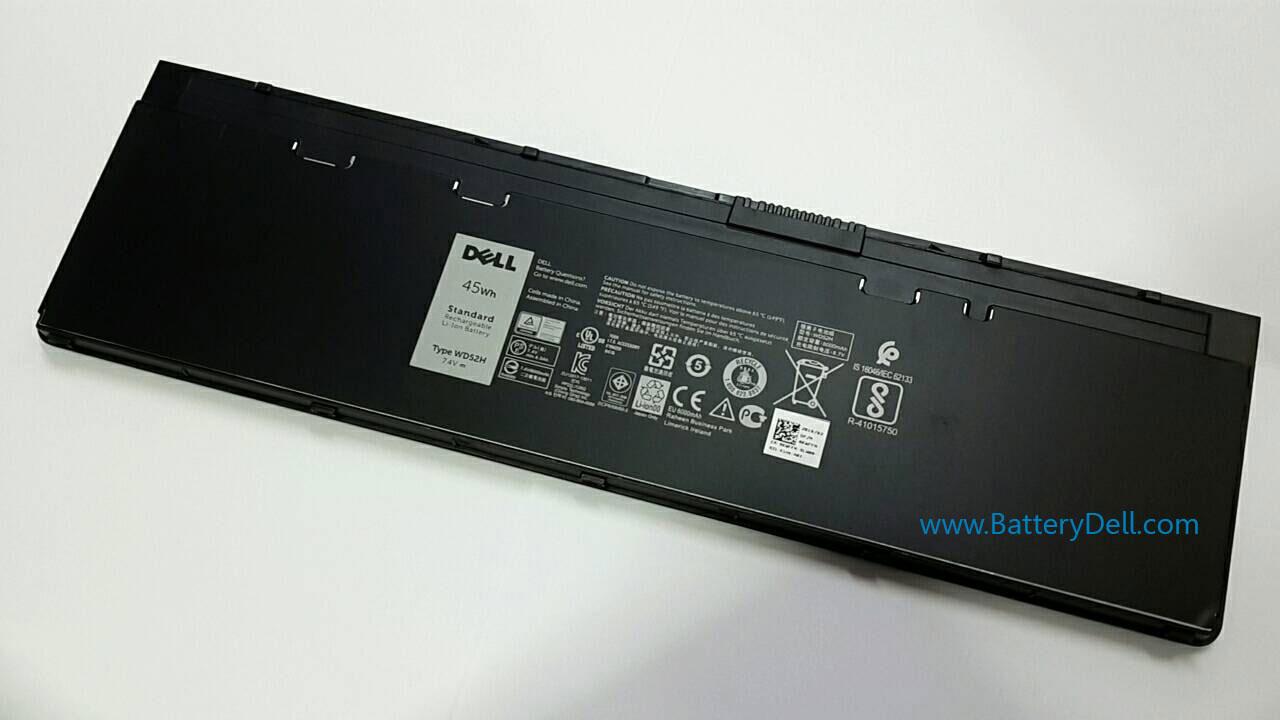แบตเตอรี่ โน๊ตบุ๊ค Dell Latitude E7240 WD52H 45Whr แบตแท้ ประกัน ศูนย์ Dell Thailand