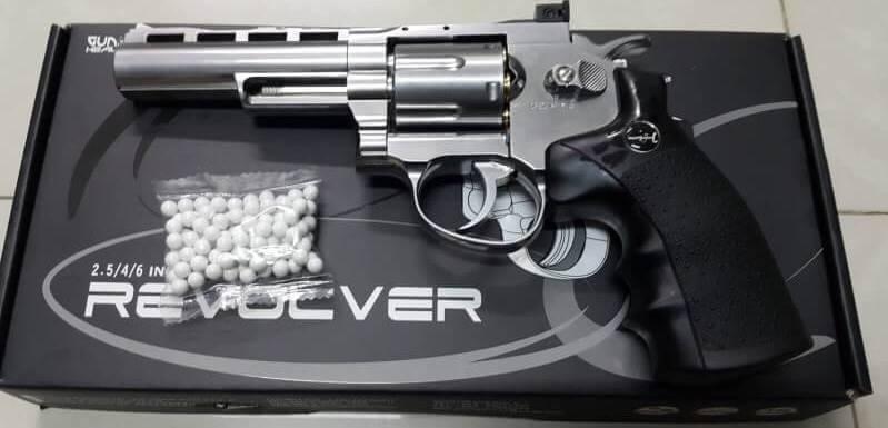 "Gun Heaver ลูกโม่ 4"" สีเงิน"