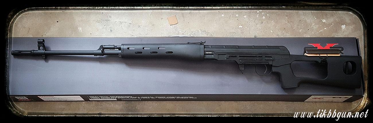 ปืนอัดลม ชักยิงทีล่ะนัด SVD AK สีดำ