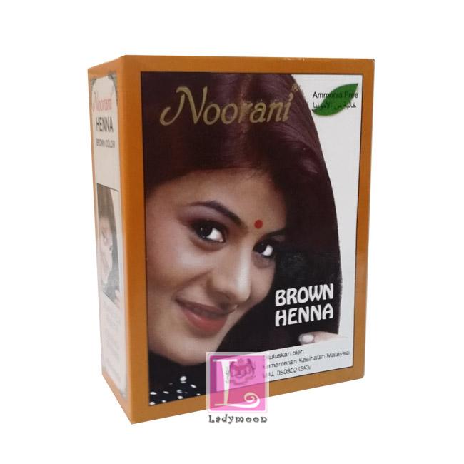 ยาย้อมผมเฮนน่า สีน้ำตาล BROWN HENNA NOORANI