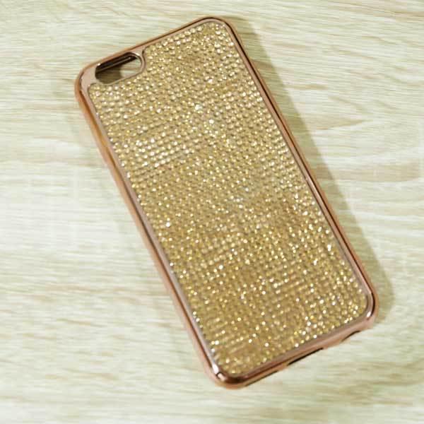 เคสไอโฟน 6 พลัส/6s พลัส เพชรนิ่มทอง