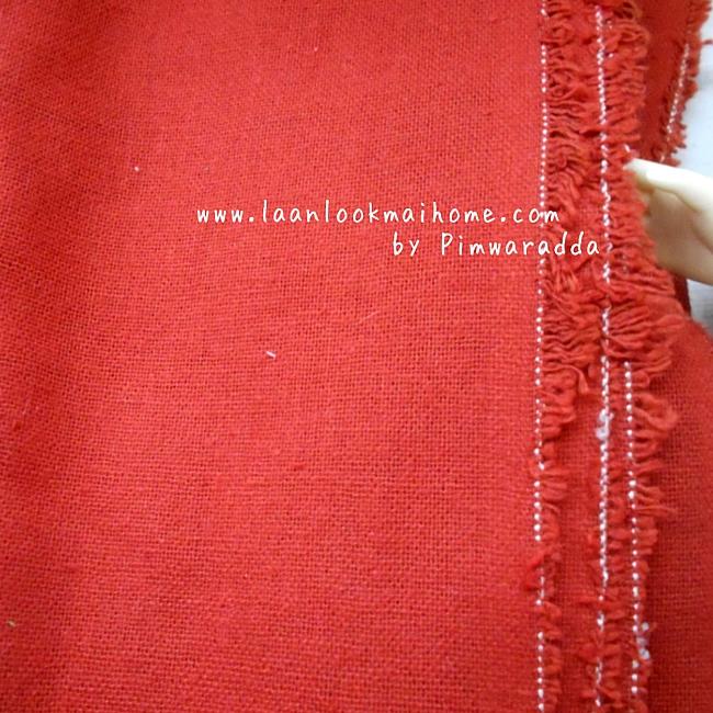 ผ้าคอตตอนเนื้อหยาบไม่บางราคาประหยัดค่ะ ( 1/2 m )