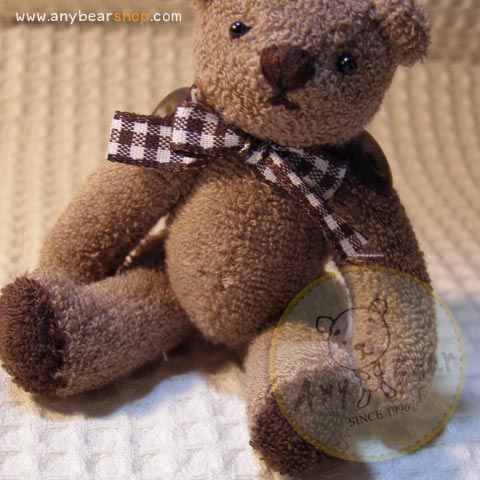 ตุ๊กตาหมีผ้าขนหนูสีน้ำตาลขนาด 10 cm. - Muffin
