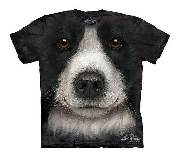 Big Face Border Collie Dog T-Shirts