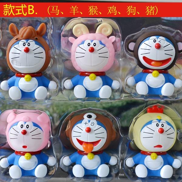 [Preorder] โมเดล Doraemon 1 เซ็ทมี 6 แบบ (Version 2) A Dream car Decoration doll Zodiac robot cat cartoon car accessories Tanabata Valentine's Day gift