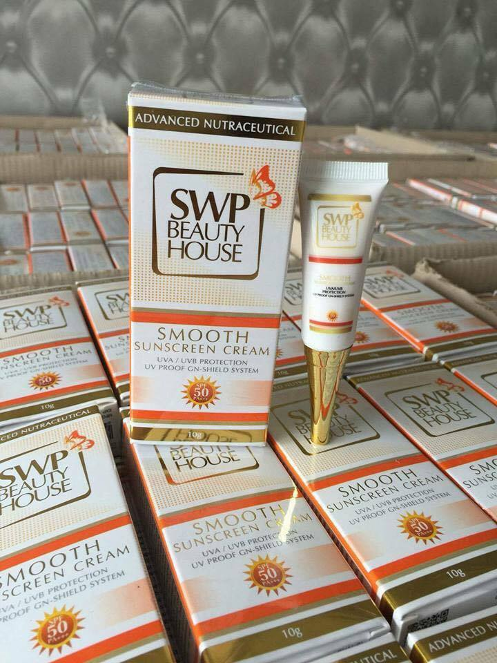 กันแดด SWP Smooth Sunscreen Cream เอส ดับบลิว พี สมูทซันสกรีนครีม ขนาด 10กรัม