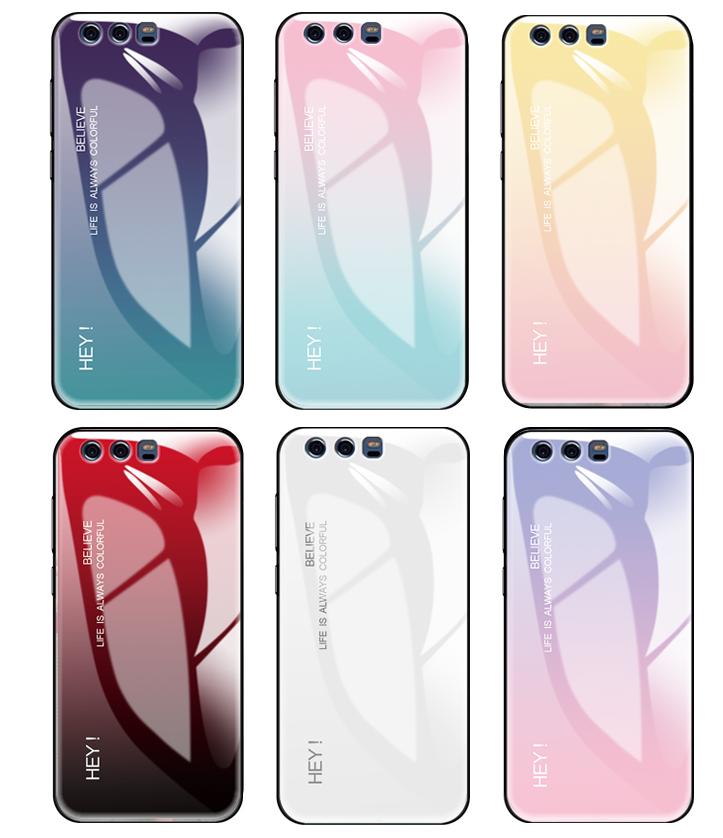 (769-001)เคสโทรศัพท์มือถือ Case Huawei P9 Plus เคสนิ่มพื้นหลังกระจกนิรภัยสีหวานๆ สวยๆ