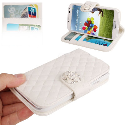 Case เคส กระเป่าหนังนุ่ม สีขาว Samsung GALAXY S4 IV (i9500) redictshop