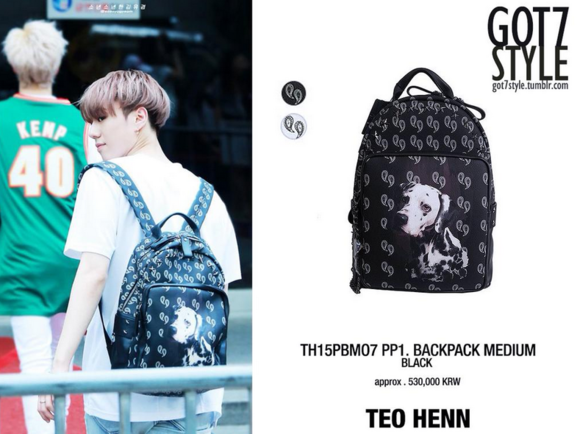 กระเป๋าเป้ YUGYEOM GOT7 Sty.TEO HENN BACKPACK MEDIUM BLACK