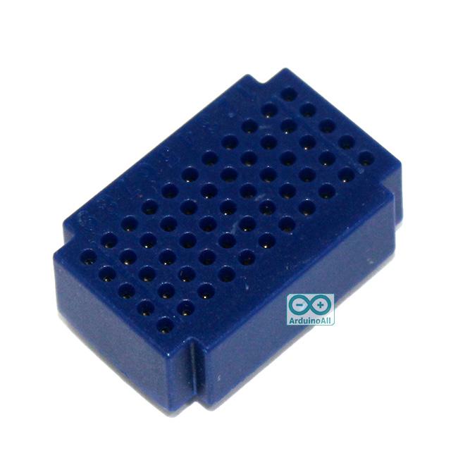 Breadboard แบบ Block ขนาดเล็ก 55 จุด สีน้ำเงิน