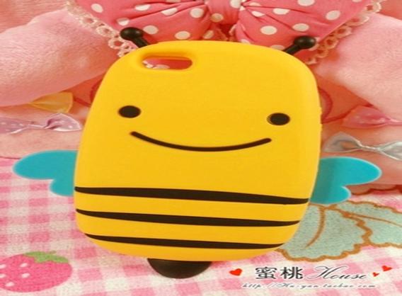 เคสไอโฟน 5/5s/SE เคสซิลิโคนผิ้งน้อยน่ารัก Smile Bee