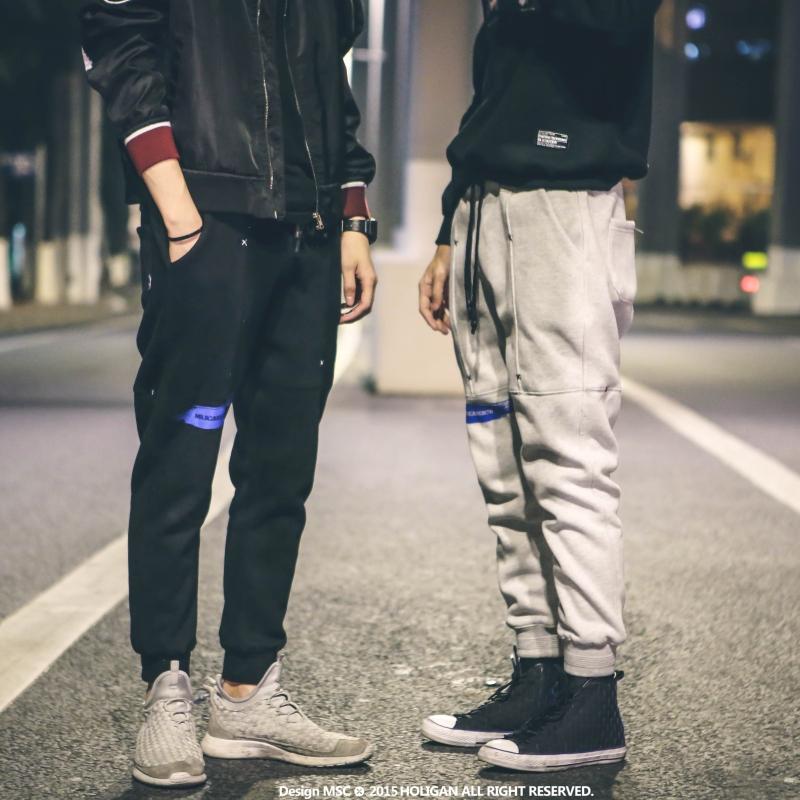 *Pre Order*Personality Japan กางเกงลำลองขาจั๊มแฟชั่นชาย/สีเทา/สีดำ size M-XL