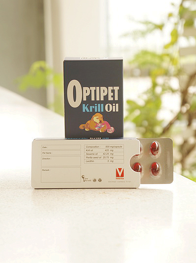 Optipet Krill Oil สำหรับสุนัขและแมวที่มีปัญหาเรื่องข้อต่อ
