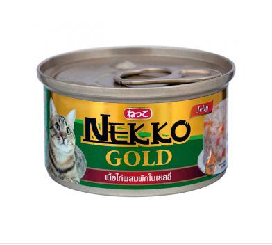 Nekko G.ไก่ผักเยลลี่ กป.85g. เขียว