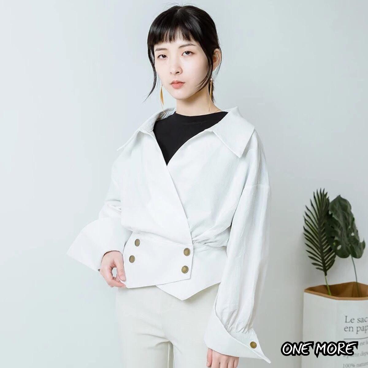 เสื้อเกาหลี พร้อมส่ง แจ็กเกตยีนต์ สีพื้น