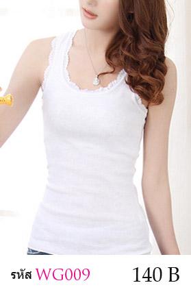 เสื้อกล้ามซับใน ขอบผ้าลูกไม้ เพิ่มความหวาน เสื้อกล้ามซับในผ้ายืด ลายลูกไม้ เพิ่มความหวาน น่ารัก จะใส่เดี่ยวๆ หรือใส่คู่กับเสื้ออีกตัวก็ดูดีคะ เนื้อผ้ามีความยืดหยุ่น ปรับขยายได้ตามรูปร่าง ขนาด FREE SIZE ( รอบอกไม่เกิน 35 นิ้ว ) มี 4 สี = ขาว , เทา , ดำ , ชมพูเข้ม