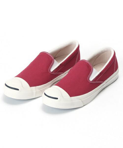 ลด ล้างสต๊อก รองเท้า Converse Converse X Beams Jack Purcell Slip On สีแดงเลือดหมู Size 37-44 พร้อมกล่อง