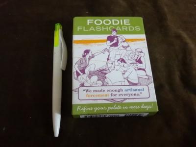 foodie flash cards