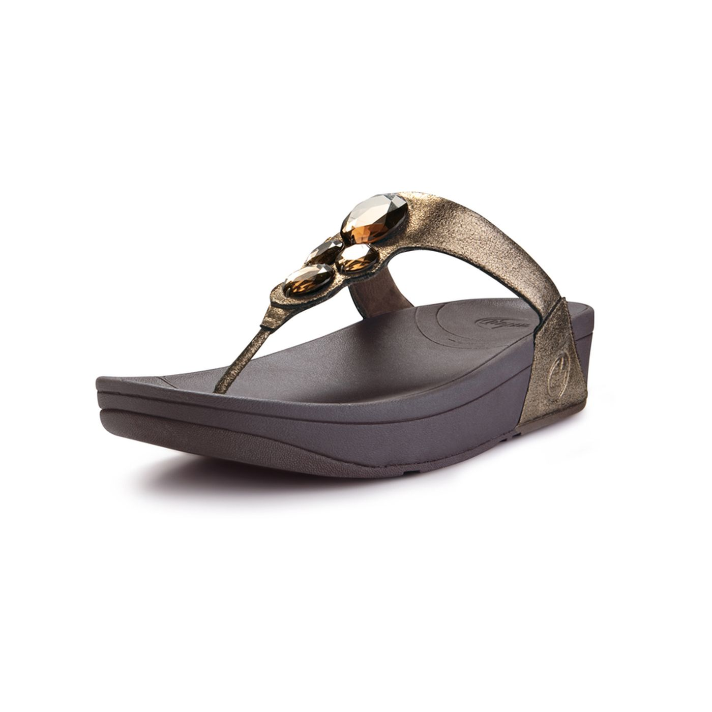 fitflop lunetta sandals  pale bronze size 8