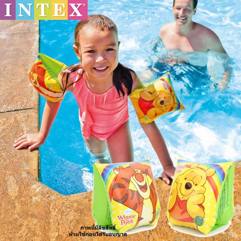 ปลอกแขนว่ายน้ำลายพูห์ Swim arm trainer (Intex-56644)