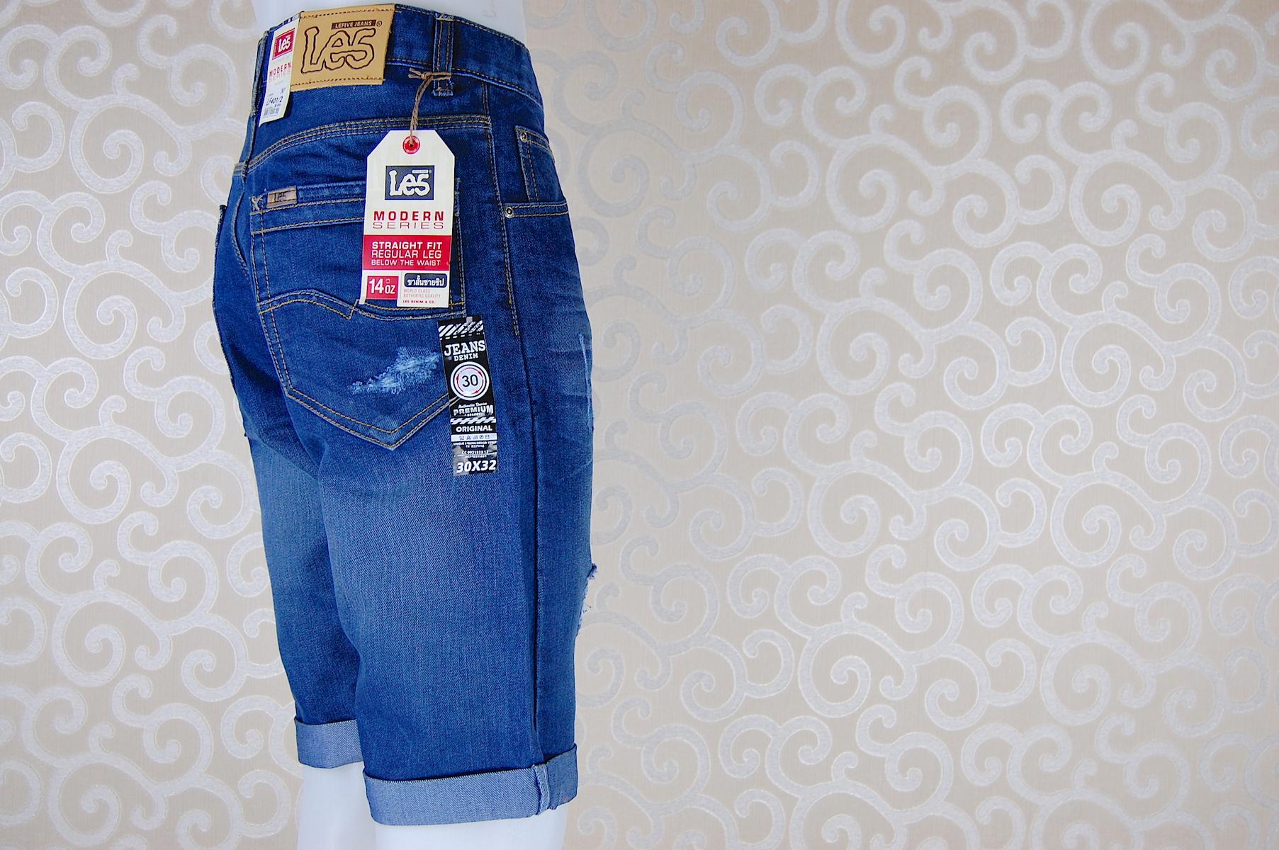 กางเกงยีนส์ขาสั้น LF401-2--3
