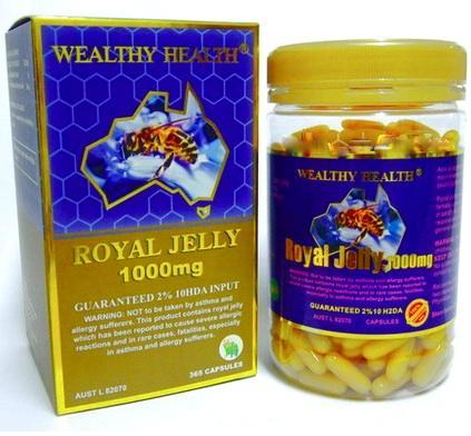 ROYAL JELLY 10HDA 1000mg รอยัลเจลลี่ 1000 มก.จากนมผึ้งสูตรเข้มข้น 6%