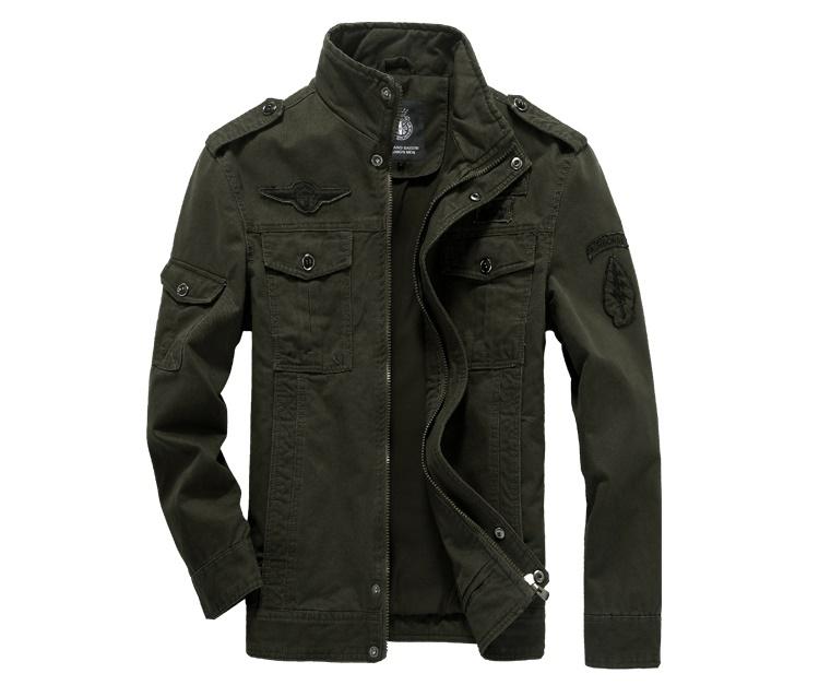 Pre Order เสื้อแจ็คเก็ตผู้ชายสุดเท่ห์ แฟชั่นสไตล์กองทัพ ลายคสาสสิก มี 3 สี